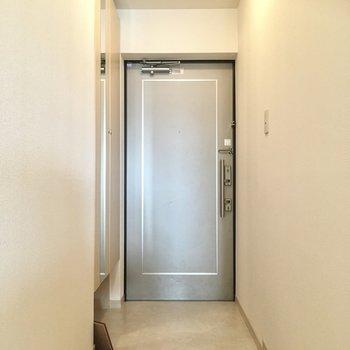 玄関は普通サイズかな?(※写真の小物は見本です)
