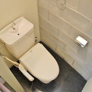 少しせまめのトイレ。※写真は別部屋になります。
