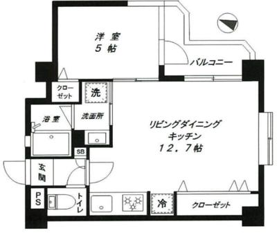 お部屋は一新、朝は和食を の間取り
