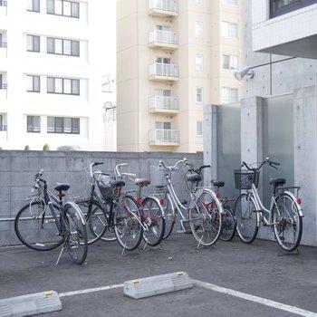 駐輪場はこんな感じ