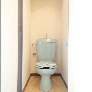 昔小学校にあったような懐かしさのあるトイレ。