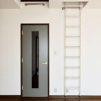 さて、お楽しみのはしごを登ります!