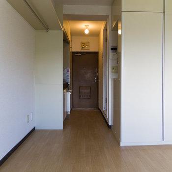 右手に見えるのが自慢の収納です。※写真は4階同間取り別部屋のものです