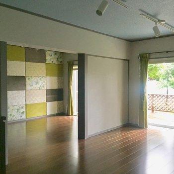 【LDK】隣の洋室とはつながっています。※写真は通電前のものです