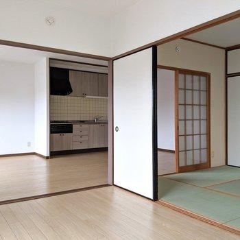日本ならではの戸で部屋を仕切る間取りって、無駄がなくていいんですよね。