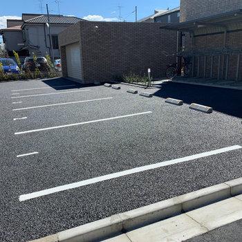 駐車場も使えます。