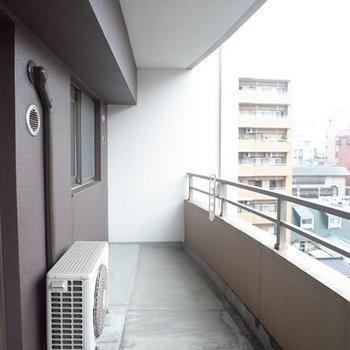 思わず植物を育てたくなるほどのバルコニー ※写真は6階の同間取り別部屋のものです