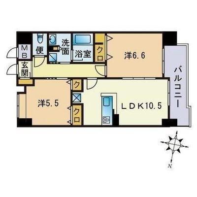 福岡の中心は私。 の間取り