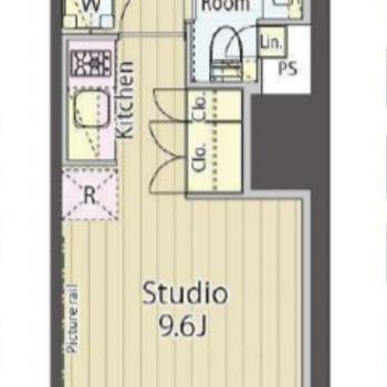 シンプルなお部屋の形。