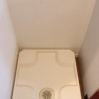 洗濯機はキッチンの手前です