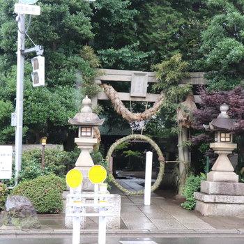 近くにある奥沢神社
