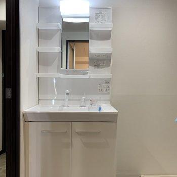 洗面台は毎日使うからフル装備がいい〜。