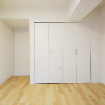こちらの部屋にもクローゼットが!