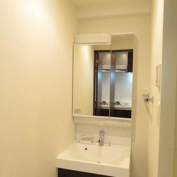 洗面台は脱衣所に※写真は4階の似た反転似た間取り角部屋のものです