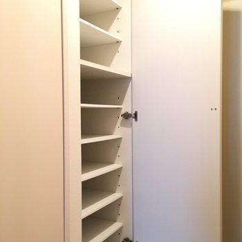 天井まである大きなシューズボックス!※写真は10階の反転似た間取り別部屋のものです