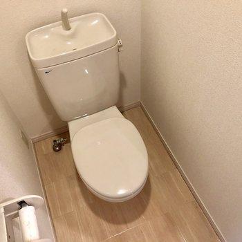 トイレもシンプル。ウォシュレットは付いていません。