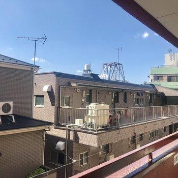 眺望は住宅街。