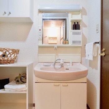 洗面台も大きめ!※家具はサンプルです