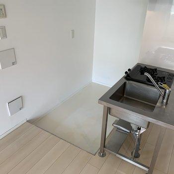 キッチンにはスペースあるので冷蔵庫おけそう