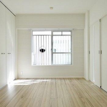 収納があるのはこのスペースのみ。(※写真は3階の同間取り別部屋のものです)