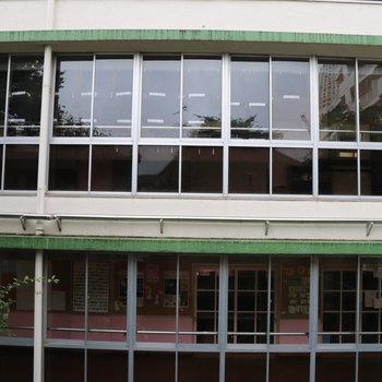 眺望は小学校の窓