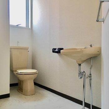 トイレの空間・・・広いなぁ。ここに住めちゃうんじゃないかな。