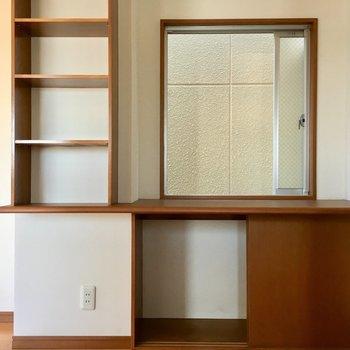 キッチン横のこのスペースも活用できそう。