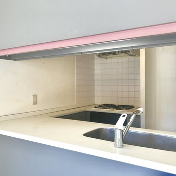 【LDK】カウンターキッチンいいなあ※写真はクリーニング前のものです