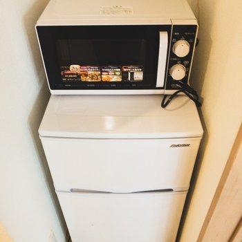 冷蔵庫と電子レンジを設備! やさしい!