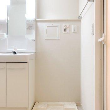 サニタリーへ。洗濯機置場は脱衣所にあります。