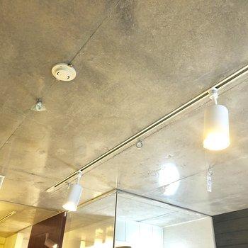 天井にループ状の金具がならんでいる!エアプランツを飾っておしゃれなお部屋に♪※写真は2階の同間取り別部屋のものです