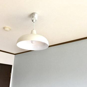 天井にはお洒落なライト。かわいいなぁ。
