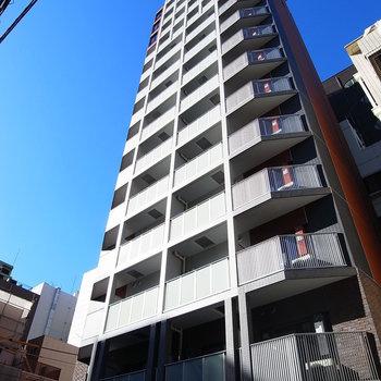 高い高いマンションです!