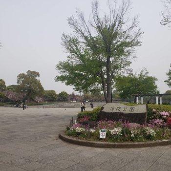とても大きい公園です。