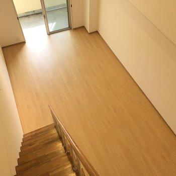 階段からの風景!ここでも高さ結構感じますね!