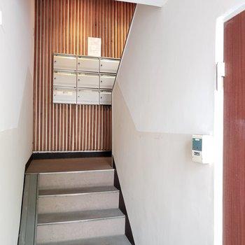 エレベーターはないので階段です。
