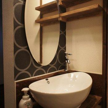 トイレ前にも洗面台!これ私好きです!可愛い~~♡