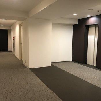 エレベーターホールもホテル感漂います