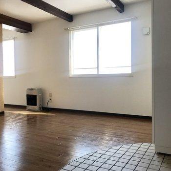 4階なので日当たりいい!お部屋も暖かかったです!※写真は同間取り別部屋です