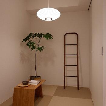 畳のあるストレージルーム。書斎がわりにぜひ。※家具はサンプルです