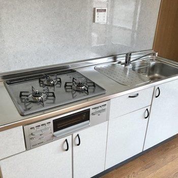 【LDK】グリル付き3口コンロのシステムキッチン!