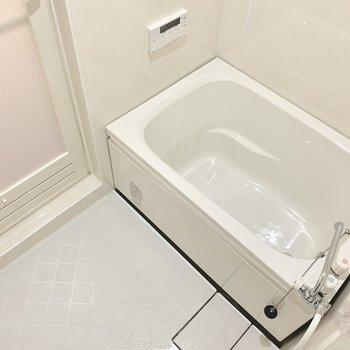 お風呂は追い焚き付きだけど・・コンパクトだね。