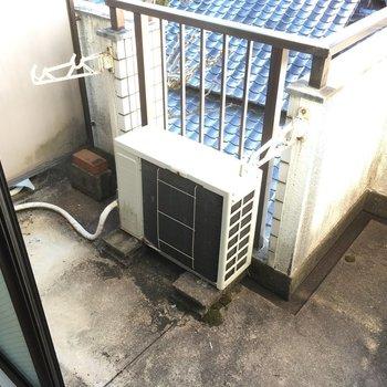 洗濯機はバルコニーに置いてね。(※写真は3階の同間取り別部屋のものです)