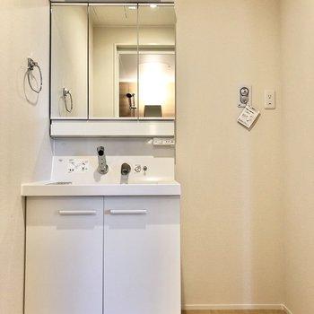 続いて水回り。脱衣所に洗濯機置き場があるので着脱も楽ちん。