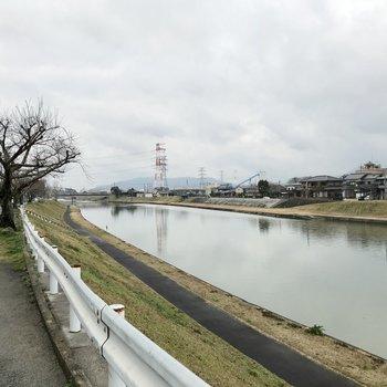 そして川もあります!朝や夕方ランニングしましょー!