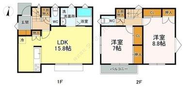 (仮称)西東京市富士町6丁目新築戸建て の間取り