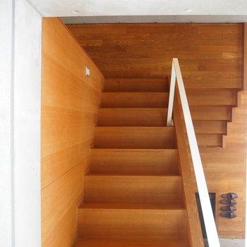 3階から眺める。※写真は2階の反転間取り別部屋のものです