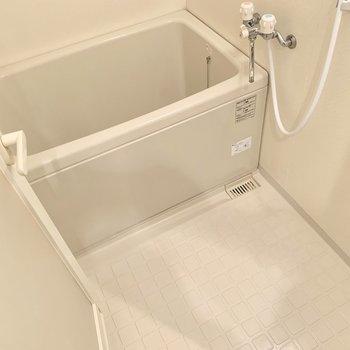 お風呂は普通かな。鏡は無いので、必要な方は持ち込みましょう!