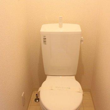 トイレは個室です。※写真は1階同間取り別部屋のものです