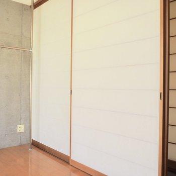 【洋室4.6帖】襖とコンクリート、良いなぁ